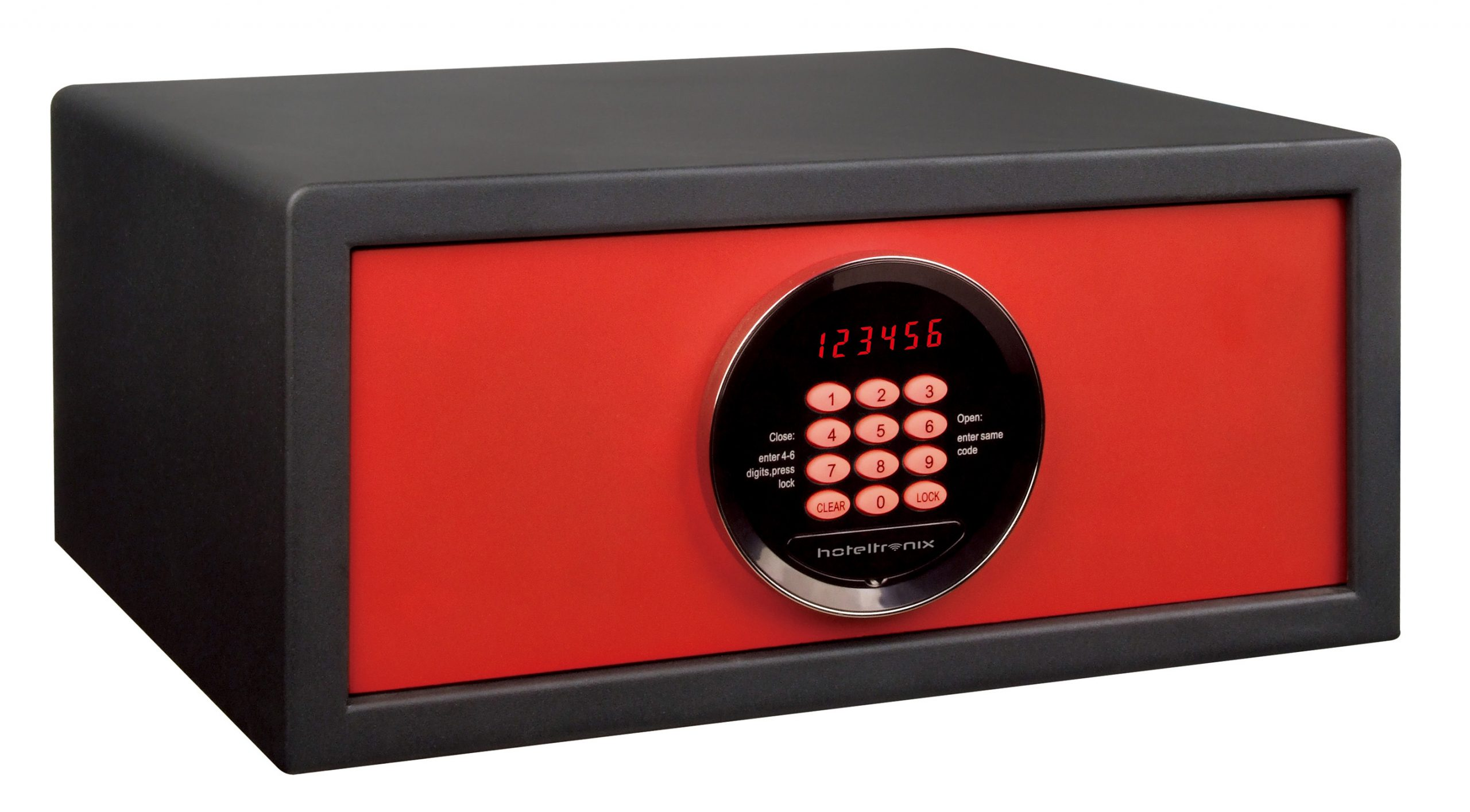 Fusion F3 Red Black - Hotel Safe